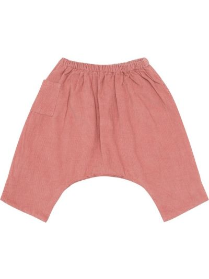 Ватные розовые брюки вельветовые Caramel