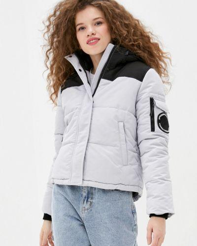 Серая утепленная куртка Superdry