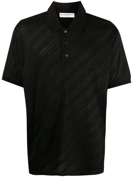 Bawełna prosto czarny koszula krótkie z krótkim rękawem z wiskozy Givenchy
