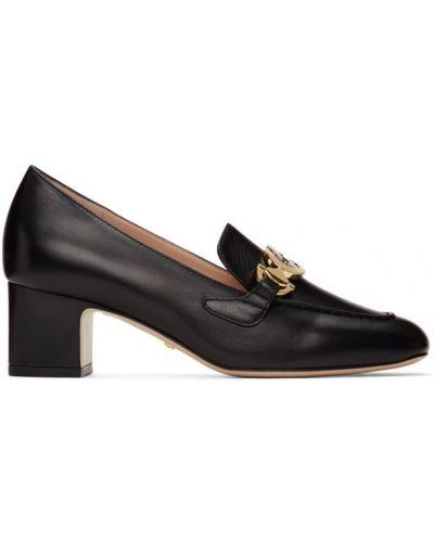 Бежевые кожаные лоферы на каблуке Gucci