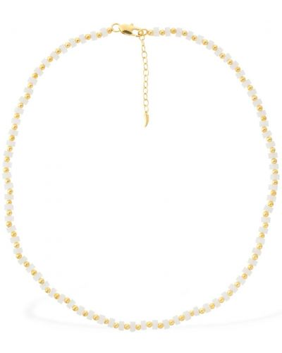 Złoty naszyjnik - biały Missoma
