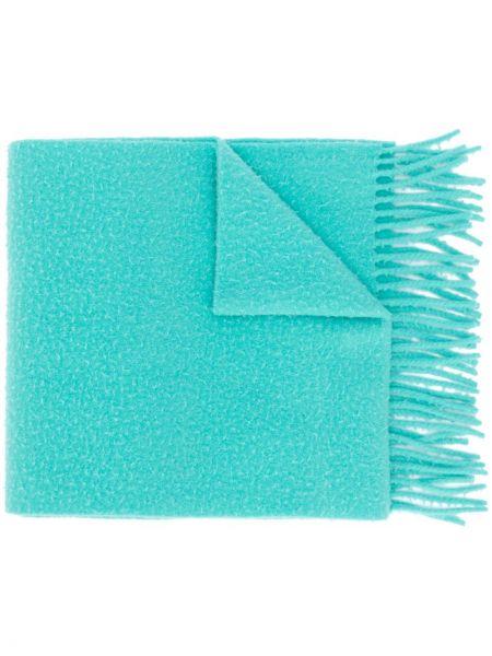 Wełniany niebieski szalik przycięte Acne Studios