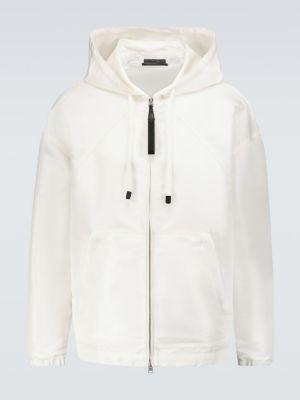 Белая кожаная куртка с капюшоном Tom Ford