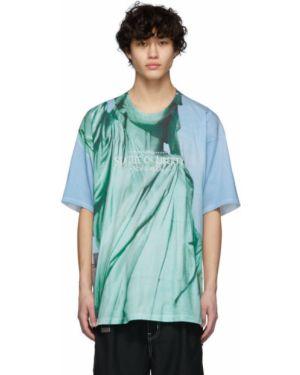 Рубашка с короткими рукавами с принтом с вышивкой Doublet
