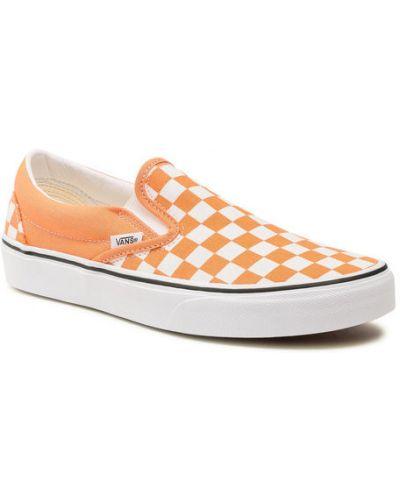 Pomarańczowe slipy Vans