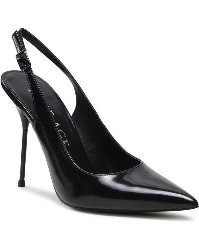 Czarne sandały skorzane lakierowane Rage Age