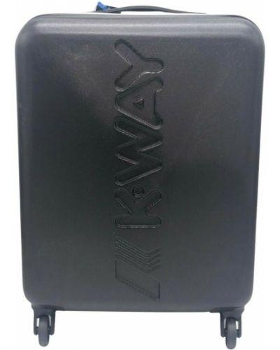 Czarna walizka średnia K-way