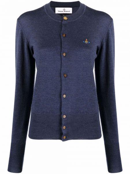 Синяя шерстяная кардиган Vivienne Westwood