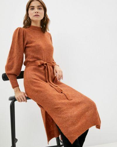 Вязаное платье - коричневое Ichi