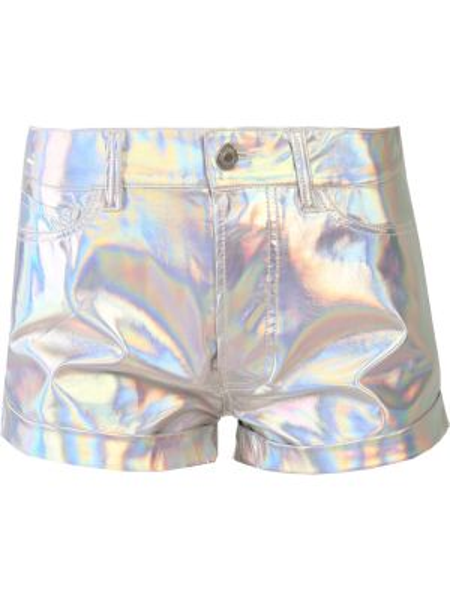 Шорты с карманами - серебряные Forte Couture