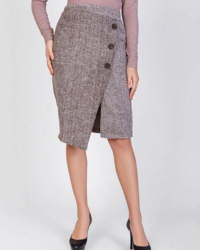 Коричневая прямая юбка карандаш Magnet