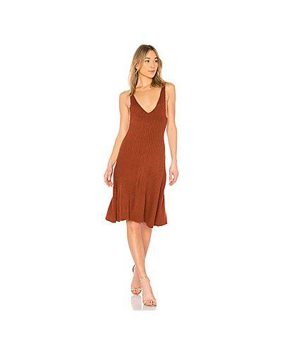 Платье макси вязаное в рубчик Lpa