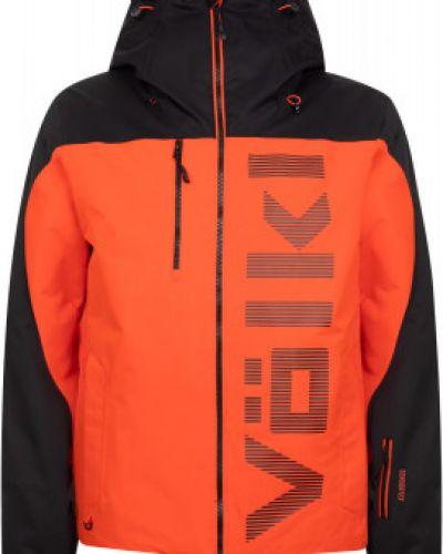 Прямая красная теплая утепленная куртка VÖlkl