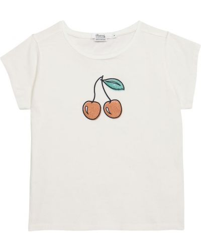 Повседневная хлопковая белая рубашка Bonpoint
