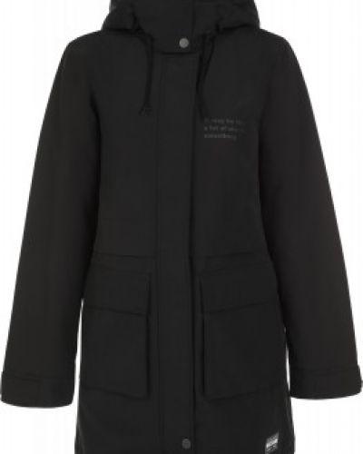 Хлопковая черная теплая длинная куртка Termit