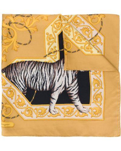 Шелковый желтый платок Salvatore Ferragamo Pre-owned