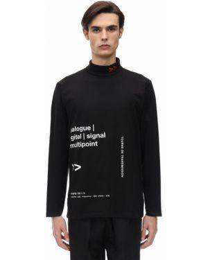 Czarna koszula bawełniana z długimi rękawami Tdt - Tourne De Transmission