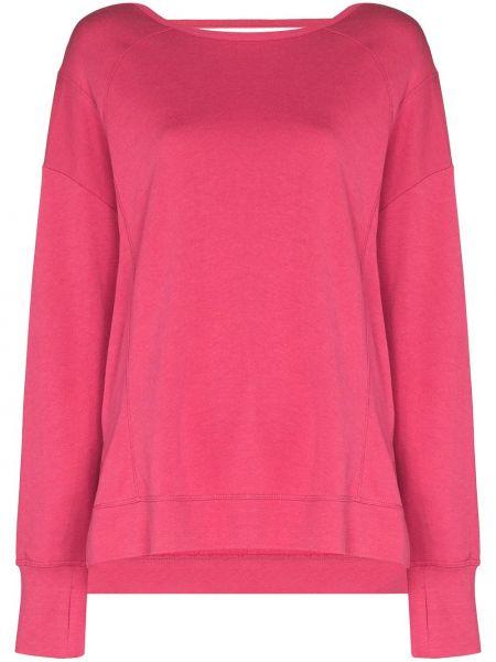 Różowa bluza długa z długimi rękawami bawełniana Sweaty Betty