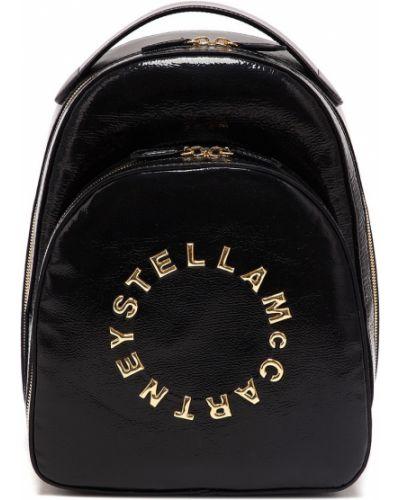 Кожаный рюкзак на молнии черный Stella Mccartney