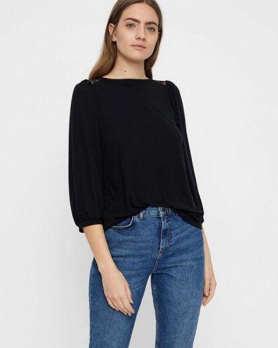 Блузка с длинным рукавом весенний черная Vero Moda