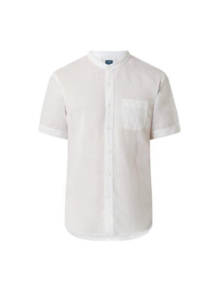 Lniana koszula krótki rękaw Olymp