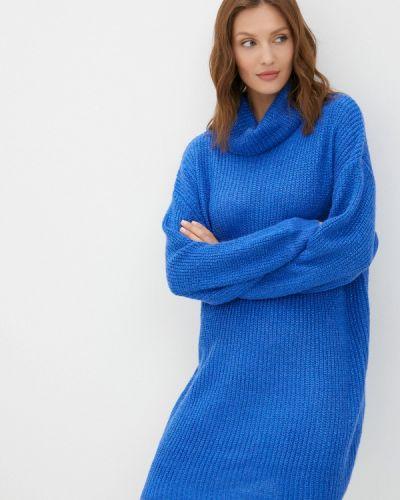 Вязаное платье - синее By Swan