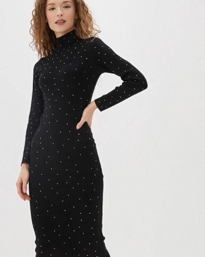 Трикотажное вязаное черное платье Love Republic