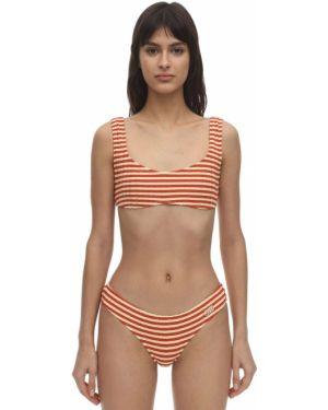 Топ в полоску - оранжевый Solid & Striped