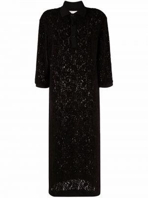 Черное платье из вискозы Henrik Vibskov
