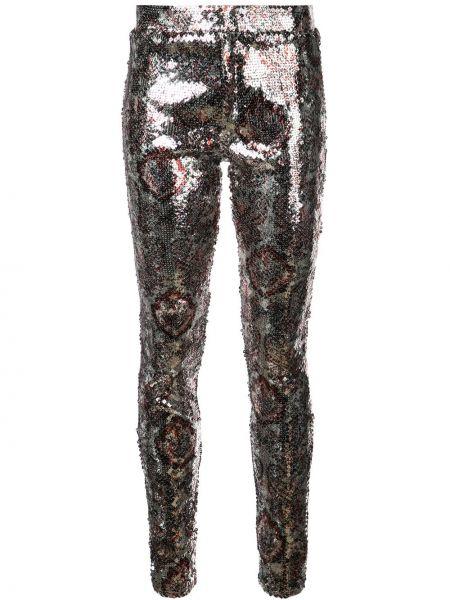 Серебряные леггинсы с пайетками Isabel Marant