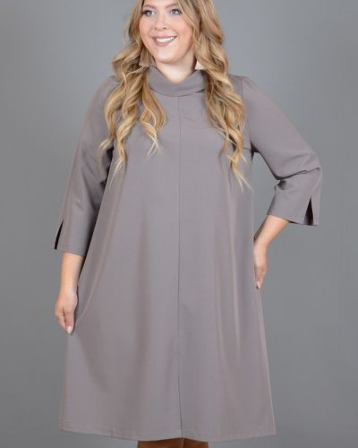 Повседневное платье с разрезами по бокам с отложным воротником Avigal (avrora)
