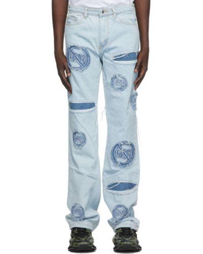 Черные джинсы с вышивкой стрейч Who Decides War By Mrdr Brvdo