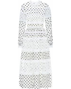 Вечернее платье из фатина в горошек Costarellos