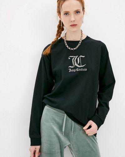 Черный лонгслив Juicy Couture