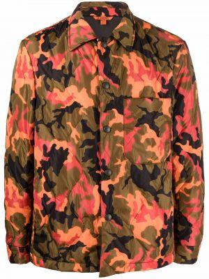 Pomarańczowa klasyczna koszula Barena