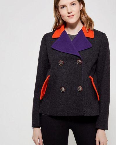 Пальто демисезонное серое United Colors Of Benetton