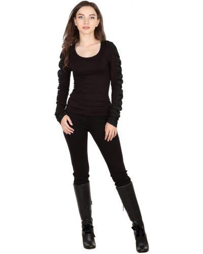 Черная блузка из вискозы Roccobarocco