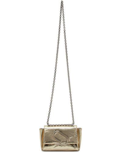 Z paskiem srebro torba kosmetyczna metal z gniazdem 3.1 Phillip Lim