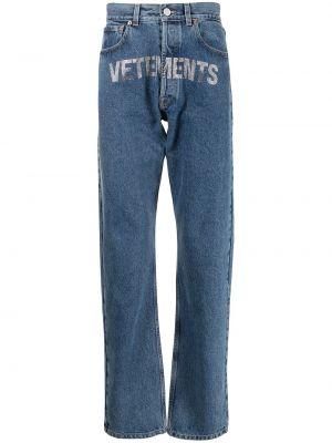 Прямые джинсы классические - синие Vetements