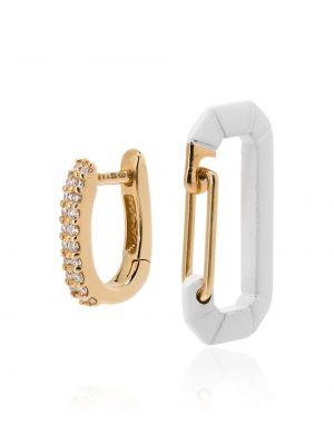 Белые серебряные серьги с бриллиантом Eera