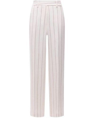 Шерстяные белые брюки Kiton