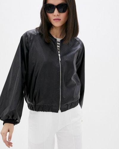 Черная кожаная куртка Rinascimento