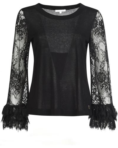 Блузка из вискозы черная Patrizia Pepe