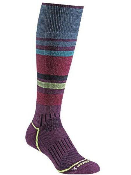 Вязаные фиолетовые шерстяные носки со вставками Foxriver