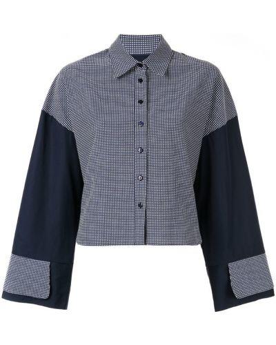 Классическая синяя классическая рубашка на пуговицах Jour/né