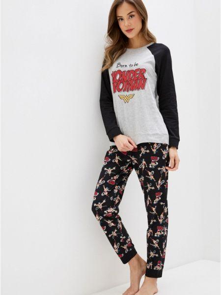 Пижама пижамный черная Tezenis