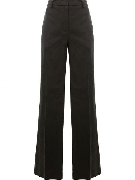 Льняные брюки - черные Ilaria Nistri