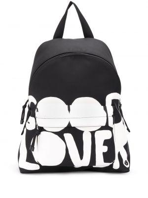 Czarny plecak z printem Valentino