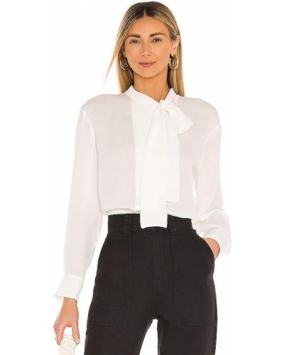 Шелковая блузка с длинными рукавами с декольте Rebecca Taylor