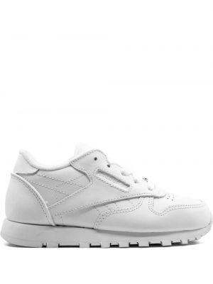 Кожаные белые классические кожаные кроссовки Reebok Kids